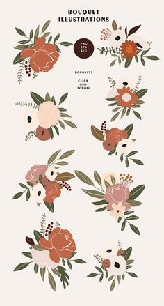 Floral Illustrations, Illustration Art, Bridal Invitations, Flower Svg, Clip Art, Journal Stickers, Watercolor Animals, Art Drawings, Sketches