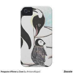Penguins iPhone 4 Case; Abigail Davidson Art