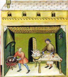 Tacuinum sanitatis, 14. Jh.; Wien Österreichische Nationalbibliothek, Cod. Vindob. S. n. 2644, Oberitalien um 1390, folio 80r.