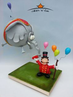 Dimbo de floating elephant - Cake by Dirk Luchtmeijer