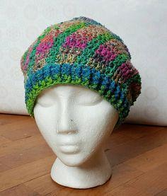 Crochet Little Bit Slouchy Beanie  Sun Spiral by SpruceandSalsify