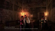 Town Hall, room of the Nymphs. Girolamo Riario, lord of Forlì and husband of Caterina, was killed in this room.  Palazzo comunale, stanza delle Ninfe. in questa stanza venne ucciso Girolamo Riario, signore di Forlì e marito di Caterina 3D reconstruction by Lorenzo F.P. Mariani