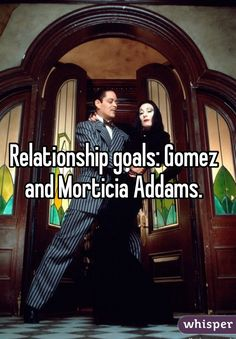 Relationship goals: Gomez and Morticia Addams. Relationship goals: Gomez and Morticia Addams. Boyfriend Goals, Future Boyfriend, Morticia And Gomez Addams, Couple Texts, Adams Family, My Sun And Stars, Relationship Memes, Relationships, Romantic Couples