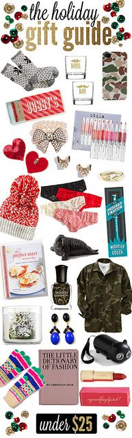 Dressed Up Alligators: the holiday gift guide: under 25$