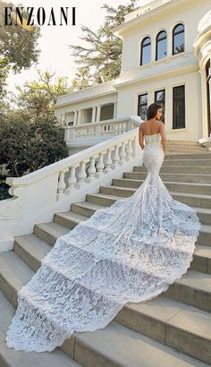 We measure our trains by how many steps it covers Wedding Bridesmaid Dresses, Dream Wedding Dresses, Wedding Attire, Bridal Dresses, Wedding Gowns, Backless Wedding, Wedding Images, Dream Dress, Bridal Collection