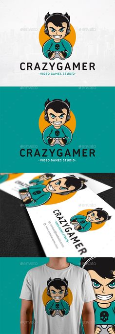 Crazy #Gamer #Logo #Template - #Humans Logo Templates