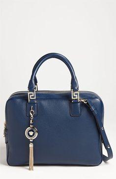 Versace Structured Leather Satchel | Nordstrom