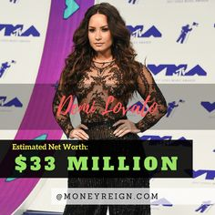 Demi Lovato has a net worth of more than $33 million. Thanks to her massive success in the world of music and entertainment, it's only a matter of time before Demi passes the $50 million mark.
