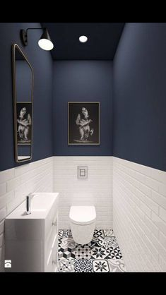 93 Cool Black And White Bathroom Design Ideas oneonroom - Wohnkultur // Badezimmer im Erdgeschoss - Bathroom Decor Downstairs Bathroom, Bathroom Small, Bathroom Black, Master Bathroom, Small Bathroom Designs, Cool Bathroom Ideas, Cloakroom Ideas, Design Bathroom, Bathroom Toilets