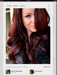 red ombre what my hair color looks like