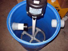 55 gal drum sand and gravel filter diy home pinterest for Koi pond sand filter