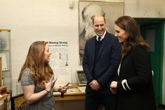 Kate Middleton Photos - Prince William, Duke of Cambrige (C) and Catherine, Duchess of Cambridge visit Acme Whistles in Birmingham on November 22, 2017 in Birmingham, England. - The Duke & Duchess Of Cambridge Visit Birmingham