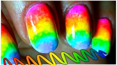 Neon Rainbow OMBRE nail art Tutorial - Stilul OMBRE pentru Unghii- By Re...