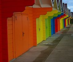 Rainbow of doors