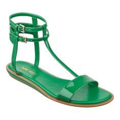 Nine West Veronique Gladiator Sandals - Size 5.5, Green