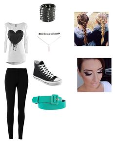 """""""style 1"""" by schooldiva7 ❤ liked on Polyvore featuring moda, Max Studio, Wet Seal, Converse e ESCADA"""