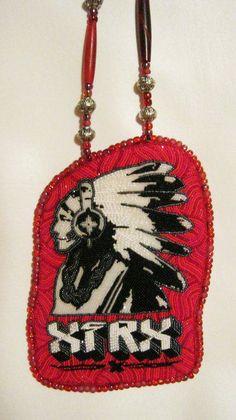 made by Mama Longlegz, Saginaw Ojibwe tribe of Michigan Native American Artists, Native American Fashion, Native Fashion, Native Beadwork, Native American Beadwork, Jingle Dress, Native Design, Medicine Bag, Nativity Crafts