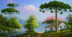 Q Fantasy Landscape, Landscape Art, Landscape Paintings, Cool Landscapes, Beautiful Landscapes, Cenas Do Interior, Beautiful Nature Pictures, Painting Techniques, Watercolor Art