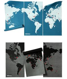 Pin-able XL Wall Maps - great for geography and travel planning!