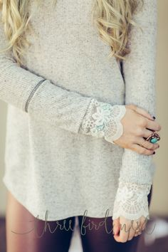 Valentine Lace Thermal by Three Bird Nest | Bohemian Clothing