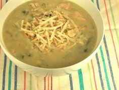 greens and chocolate: chicken enchiladas verde soup