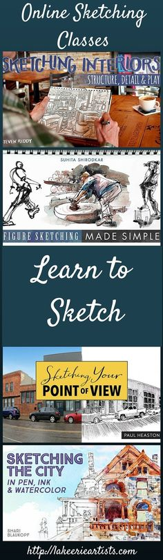 Online sketching classes - learn to sketch