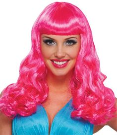 Party Girl Hot Pink Wig. use to make victory roll wig