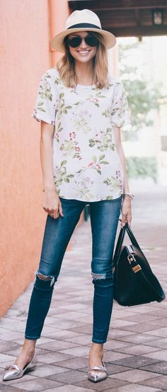 Floral Metallic Inspiration Outfit