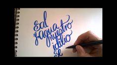 Sal & agua Caligrafía Lettering..