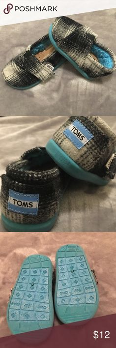 Toddler Toms Boys GUC Toddler TOMS. Size 4 Wool lined. Velcro closure. TOMS Shoes Baby & Walker