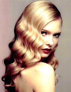 Brides retro old Hollywood glamour long finger waves old  hair Toni Kami Wedding Hairstyles Wedding hair ideas Chadwick