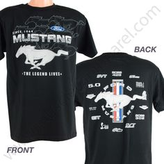 Ford Mustang T Shirt for Men - Screen print $19.95