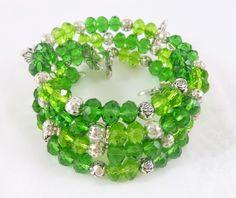 Bello #brazalete verde turqueza