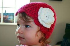 PDF PATTERN Pink baby crochet hat with by LuzCrochetPatterns, $3.99