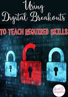 Using digital breakouts is a sure way to engage students while working on important skills, cooperation, team building, high interest activities, and more. Breakout Edu, Breakout Game, Breakout Boxes, Fun Classroom Games, Escape The Classroom, Team Building Activities, Steam Activities, Escape Room, Middle School Technology