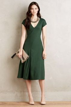 Amelia dress in green at anthropologie