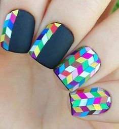 Rainbow Nail Art Design To Bring Some Color To The Gloomy Rainy Day