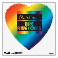 German flag of germany personalized heart shape compact mirror rainbows are awesome wall sticker negle Images
