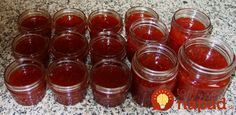 Strawberry-Rhubarb Jam with Vanilla Bean & Bergamot Strawberry Rhubarb Jam, Canning Recipes, Bergamot, Sweet Desserts, Salsa, Vanilla, Food And Drink, Pudding, Smoothie