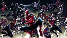 MARVELous Spider People Noir Spiderman, Spider Costume, Man Illustration, Best Superhero, Hobgoblin, Iron Spider, Man Wallpaper, Universe Art, Spider Verse