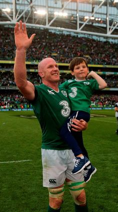 PAUL O'CONNELL led his son Paddy on to the pitch after his last Ireland game on home soil which ended in defeat to Wales. Rugby Sport, Rugby Men, International Rugby, Irish Rugby, Australian Football, World Rugby, Pitch, Dublin, World Cup