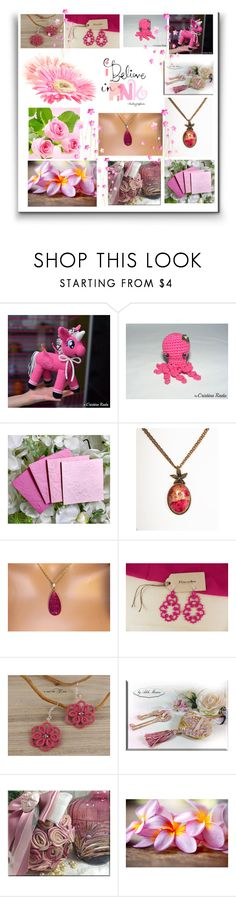 """""""Shadows of pink"""" by dragonflyadele ❤ liked on Polyvore featuring Tela Beauty Organics"""