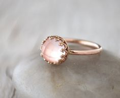 Hey, I found this really awesome Etsy listing at https://www.etsy.com/listing/269385466/rose-gold-rose-quartz-ring-in-14k-rose