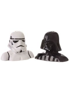 Star Wars Salt & Pepper Shakers.  I'd put pepper in the storm trooper & salt in Darth Vader just to mess with you.