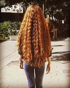 an full body of hair.Thick an full body of hair. Curls For Long Hair, Long Red Hair, Full Hair, Long Curly Hair, Big Hair, Curly Hair Styles, Really Long Hair, Rides Front, Beautiful Long Hair