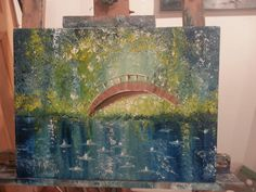 A bit Monet. Monet, My Arts, Painting, Painting Art, Paintings, Painted Canvas, Drawings