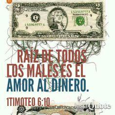 _El que ama el dinero, no se saciará de dinero; ...no sacará fruto. Eclesiastés 5:10