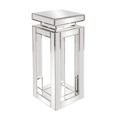 Howard Elliott Mirrored Pedestal Table - 11184