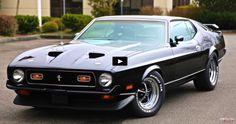 Raven Black 1971 Mustang Mach 1 Test Drive