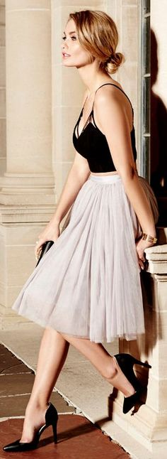 awesome Jupon en tulle : grey tulle skirt...